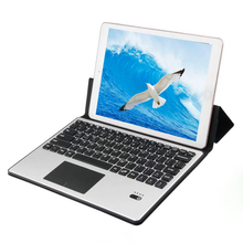 Loufu Multi Device Split Bluetooth Wireless Keyboard For iPad 9.7 Case Cover PU Leather Air 2