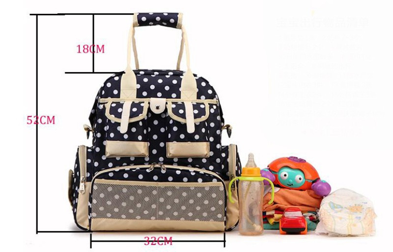 343212cm Maternity Mother Nappy Bags Mummy Bag Waterproof Backpack Tote Bag Organizer Baby Diaper Bags Multifunctional  (8)