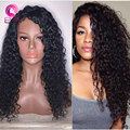 8A Grade Full Lace Wigs Brazilian Virgin Hair Lace Front Human Hair Wigs For Black Women Natural Hairline Curly Human Hair Wigs