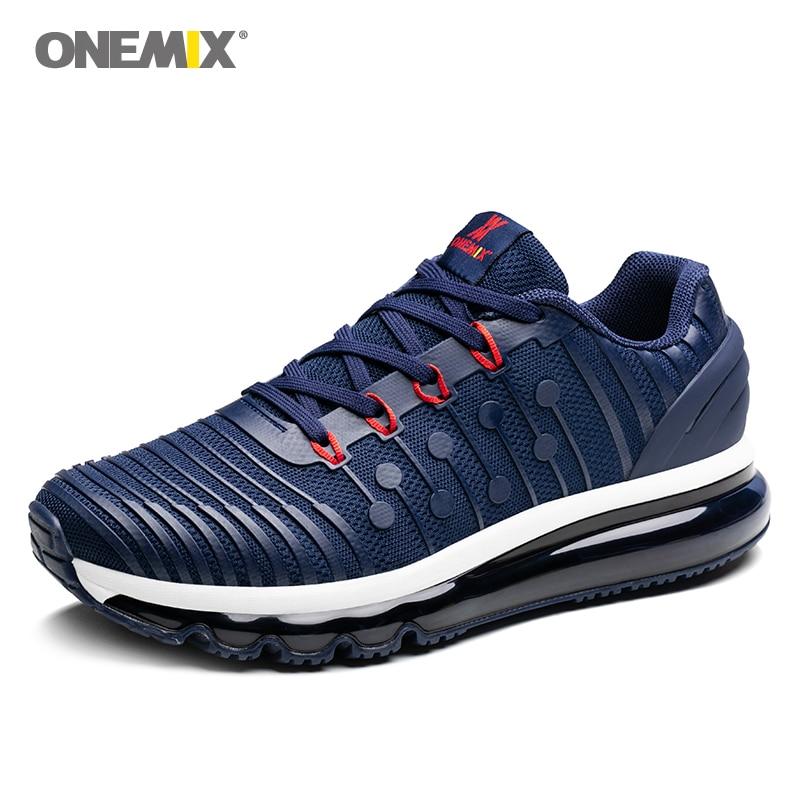 купить Onemix men's running shoes light mael walking sneakers breathable sports sneakers vamp anti-skid outdoor jogging shoes sales по цене 3722.18 рублей