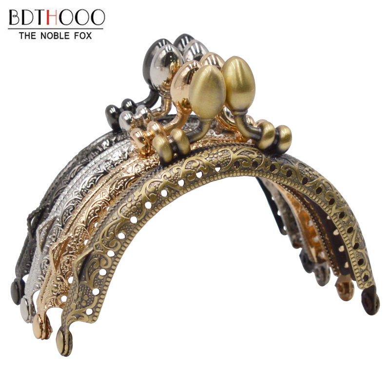 BDTHOOO 8.5cm Clasp For Coin Purse Frame Diy Metal Accessories For Bag Kiss Clasp Lock Clutch Bags