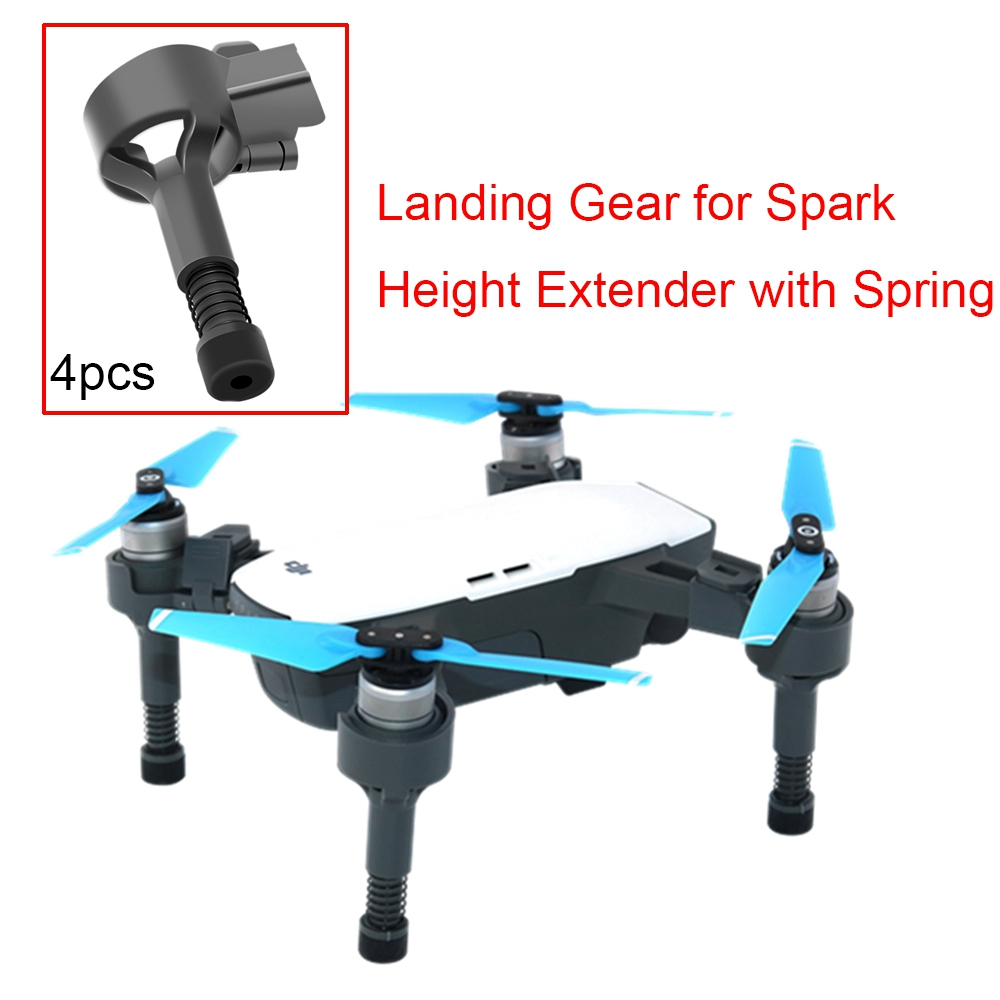 4PCS Landing Gear For DJI Spark Drone Shockproof Stand Soft Spring Legs Quick Release Feet Protector Height Extender Accessory