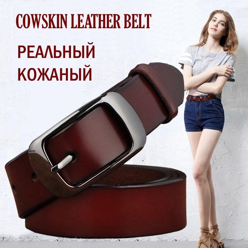 SAN VITALE nouveau Designer mode femmes ceintures en cuir véritable marque sangles femme ceinture Pin boucles fantaisie Vintage pour Jeans