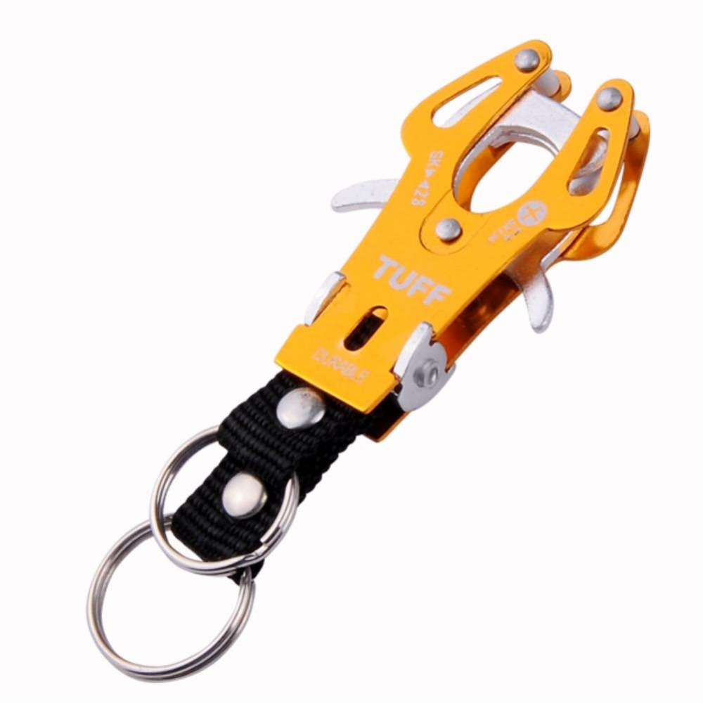G GOLDEN SIZE S PRACTICAL ALUMINUM ALLOY CARABINER CAMP CLIP LOCK HOOK KEYCHAIN EN3965 T rasp dremel 2016 camp safety oval xl lock