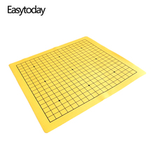 Easytoday One Side Go Game Chessboard Games Synthetic Leather Suede 19 Line Road Weiqi Chess Board High-quality