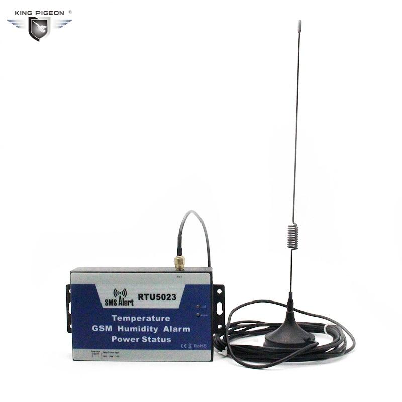 GSM Antenna Temperature Humidity Alarm Power Off Alarm SMS Command For Hospital Storage Greenhouse Power Monitor With 1m Sensor 16 ports 3g sms modem bulk sms sending 3g modem pool sim5360 new module bulk sms sending device