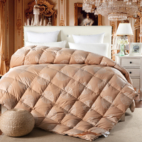 Модные Европейский стиль зима одеяло квилтинга утка/пуховые одеяла 80 s хлопчатобумажное белье twin/Queen/King размеры одеяло
