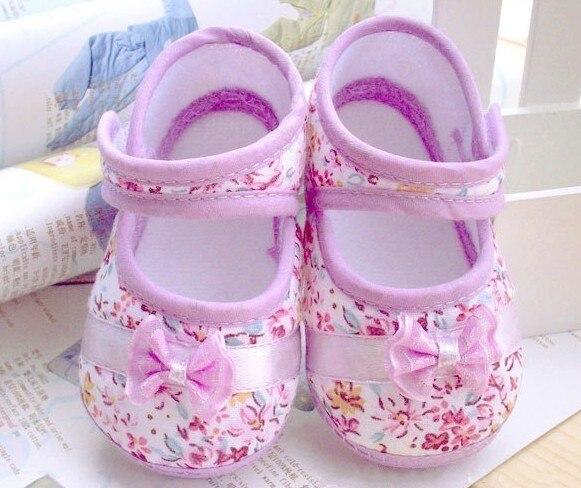 Розничная продажа 2017 Обувь для девочек Fowers Лук Малыш Обувь 11 см 12 см 13 см Демисезонный детская обувь Обувь для малышей