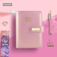 NEVER Korean Gift Stationery A6 Spiral Notebook Personal Diary Schedule book for School girls gift office and school supplies