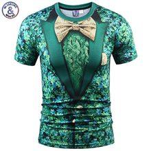 2017 Mr.1991INC New Fashion Fake Two Pieces T-shirt Men/Women 3d T shirt Print Green Floral Suit Jacket Tops Tees Summer T shirt