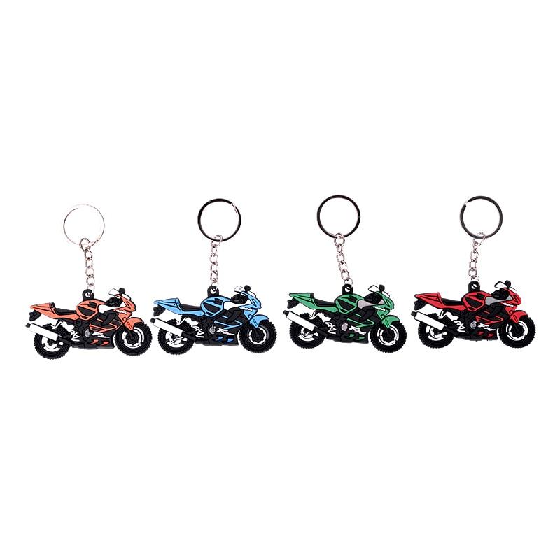1PCS Motorcycle Pattern Keychain Key Chain Ring Key Pad