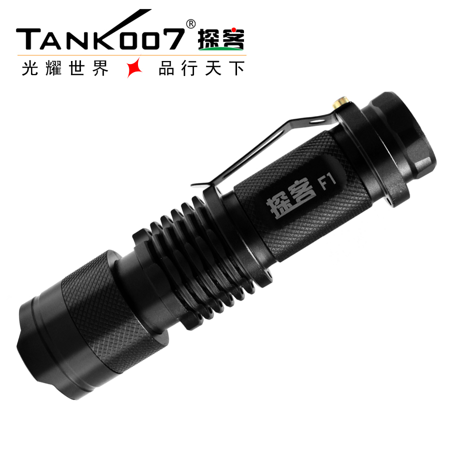 Купить с кэшбэком TANK007 365nm High Power 1w LED UV Ultra Violet Flashlight Torch light AA anti-fake check money ,jewelry, ticket,fluorescence
