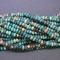Kindgems Natural Aqua Jasper Beads Sediment Jasper Slice Loose Beads 5*8mm Drilled Slab Women Fashion Accessories Jewelry Making