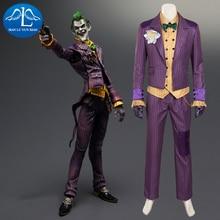 MANLUYUNXIAO Batman Arkham Asylum Joker Cosplay Costume Men Costume Halloween Joker Costume For Adult Full Set Custom Made