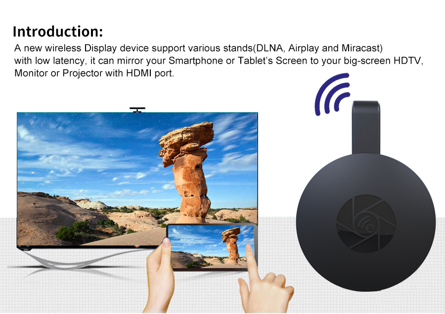 G2 Wireless AIR Play Wifi display hdmi dongle mirascreen TV stick mirroring Receiver Support IOS Android miracast For Iphone in TV Stick from Consumer Electronics