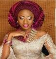 Increíble Rosa Fucsia Nigeriano Boda Perlas de Oro Joyería Africana Fija WD958 Novias Regalo Collar Pulsera Pendientes Set Nave Libre