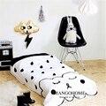 Baby quilt 1pcs 100% cotton kids quilt simple black and white design breathable soft