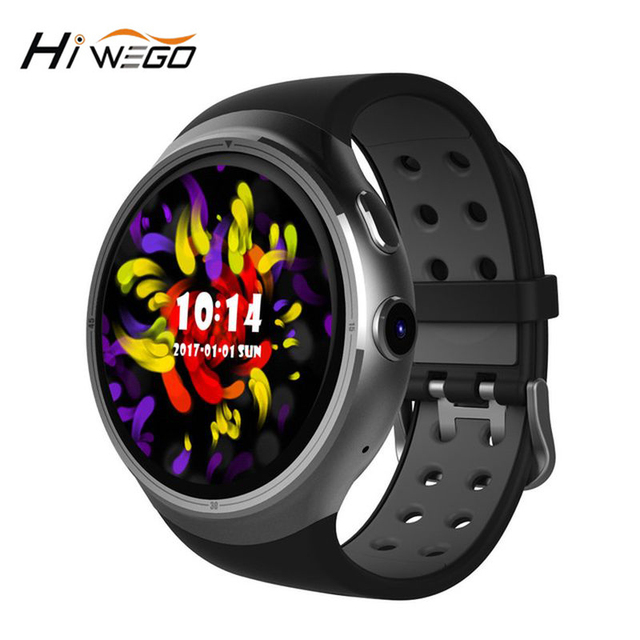 "Hiwego Men GPS WIFI Smart Watch Z10 Android 5.1 3G 1GB 16GB Quad Core 1.39"" 400*400 Smartwatch With SIM For Android Men 2017"