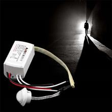 220 v ir infravermelho sensor de corpo intelligente schakelaar luz interruptor de detecção de movimento lâmpada verstelbare beweging pir schakelaar