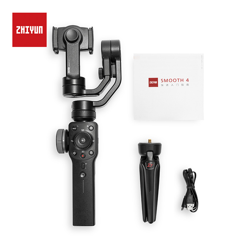 Zhiyun Smooth 4 3-Axis Handheld Gimbal Portable Stabilizer for iPhone XS Samsung S9 Huawei P20 Pro xiaomi 6 Redmi 5 Gopro 5/4/3