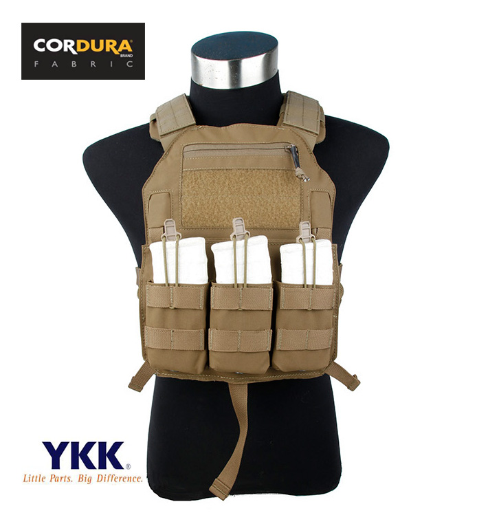Coyote Brown 4020 A2 Plate Carrier Airsoft Tactical Military Vest+Free shipping(STG050957)