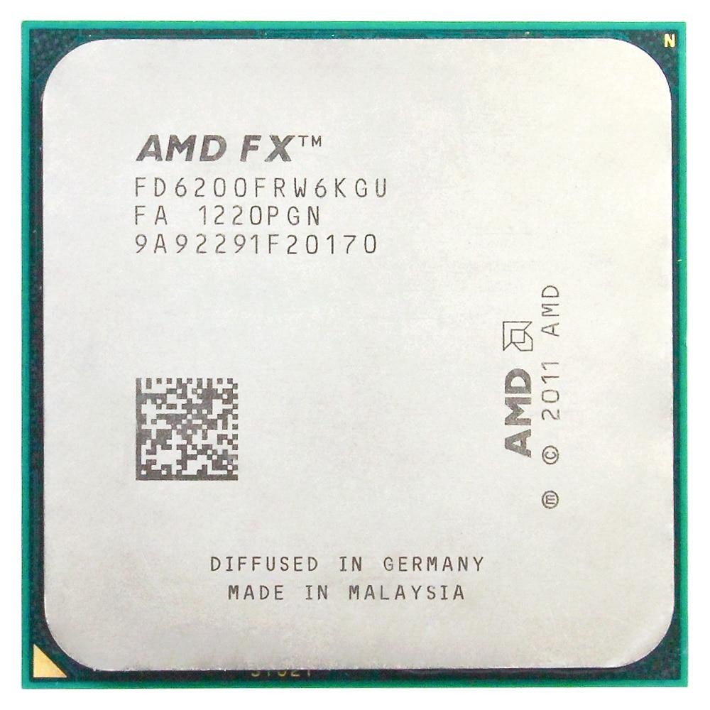 AMD FX 6200 AM3+ 3.8GHz/8MB/125W Six Core Desktop Processors CPU Socket AM3+