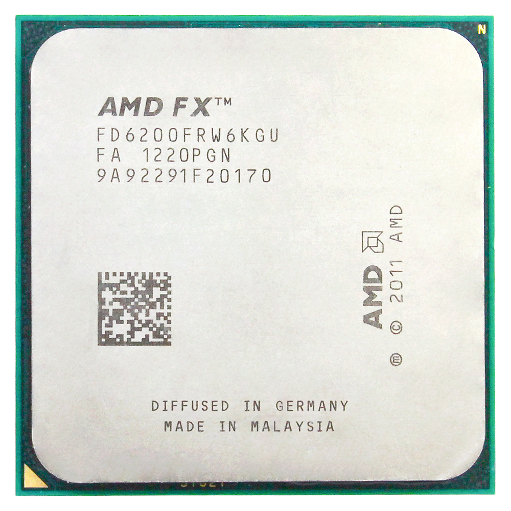 AMD FX 6200 AM3+ 3.8GHz/8MB/125W Six Core desktop processors CPU Socket AM3+ image