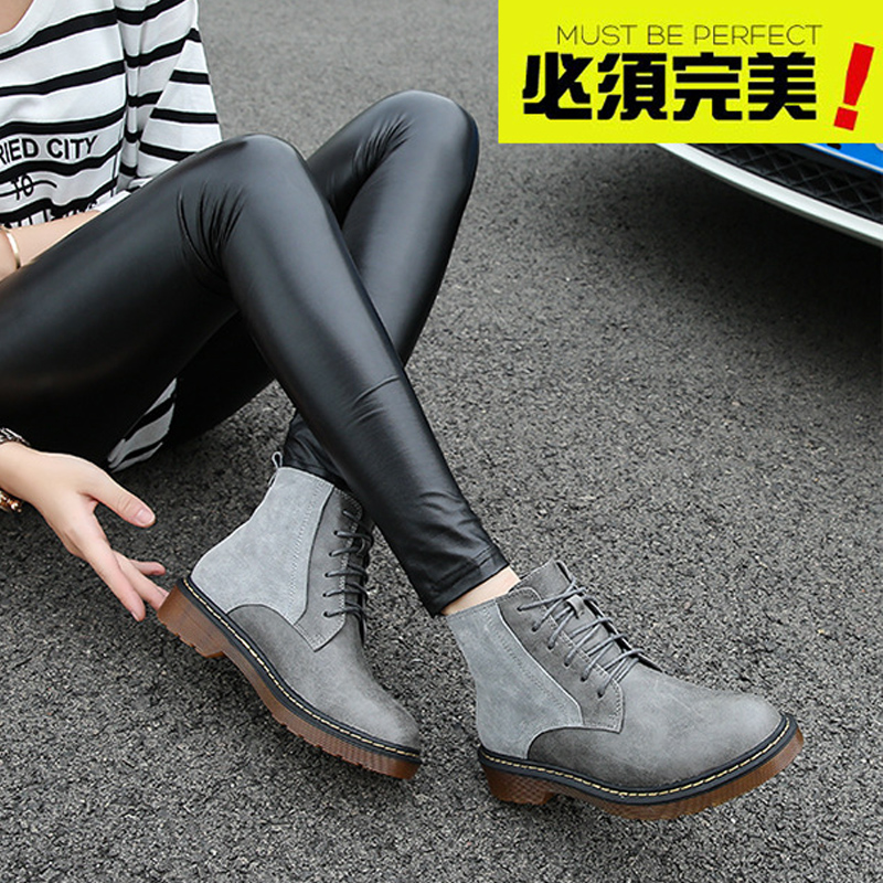 ФОТО 2016 autumn large yards shoes 41-43 boots in front tie with the boots and leather boots size 4042 yards free shipping