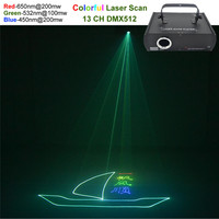 AUCD Red Green Blue Beam Animation Laser Professional DMX Projector 500mW Stage Lighting DJ Show Club Party Scanner Light 500RGB
