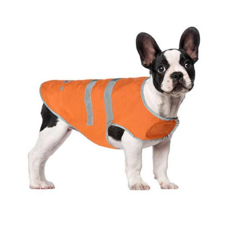 Waterproof Pet Clothes Raincoat Large Dog Clothes Coat Rain Jacket Pet Reflective Nylon Clasp Vest For Small Medium Large Dogs