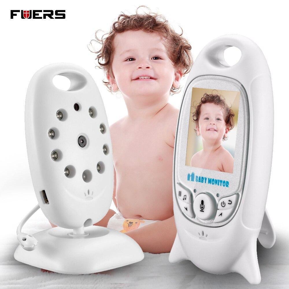 fuers 2 39 39 wireless baby monitor camera 2 way talk night vision 5m ir temperature monitoring nanny. Black Bedroom Furniture Sets. Home Design Ideas