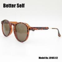 Better Self L9165 Brand Unisex Retro Round PC Sunglasses UV400 Vintage Eyewear Accessories Sun Glasses For Men Women