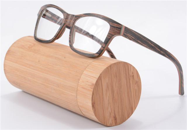 Высокого класса мода деревянные очки женщины мужчина рецепт очки дерево оптические очки кадр óculos де грау 6167