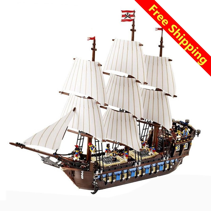 IN STOCK NEW LEPIN 22001 Pirate Ship Imperial warships Model Building Kits Block Briks Toys Gift 1717pcs Compatible legoing free shipping lepin 2791pcs 16002 pirate ship metal beard s sea cow model building kits blocks bricks toys compatible with 70810