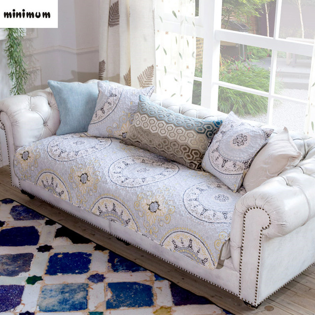 sofa covers for leather best small sofas valencia nordic gray cotton anti slip mats cushion cover towel combination free shipping