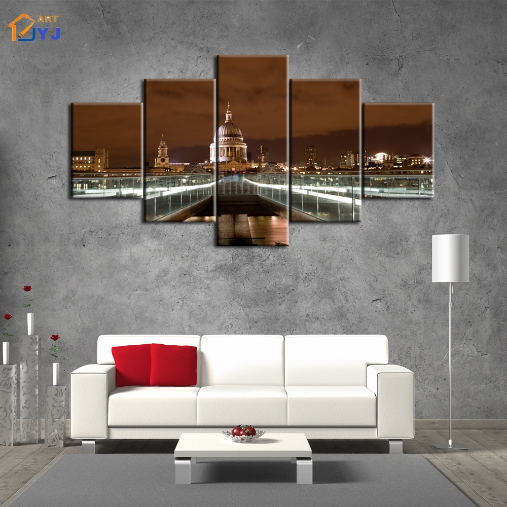 5 Panels St. Petersburg Pic Spray Canvas Painting Wall Art for Living Room Home Decor HD ...