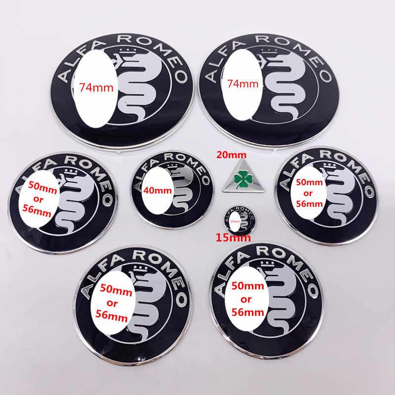 9 шт./партия 74 мм ALFA ROMEO полный набор стикер автомобиля Передняя капот Задняя эмблема 50 мм 56 мм колпачок ступицы колеса 40 мм рулевое колесо логотип