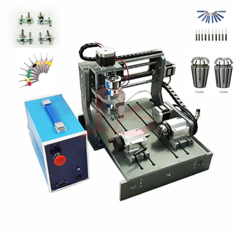 300 W broche Bois Routeur 3020 Diy mini CNC machine avec zone de travail 20x30x5 cm Pcb graveur avec forage cutter étau collet