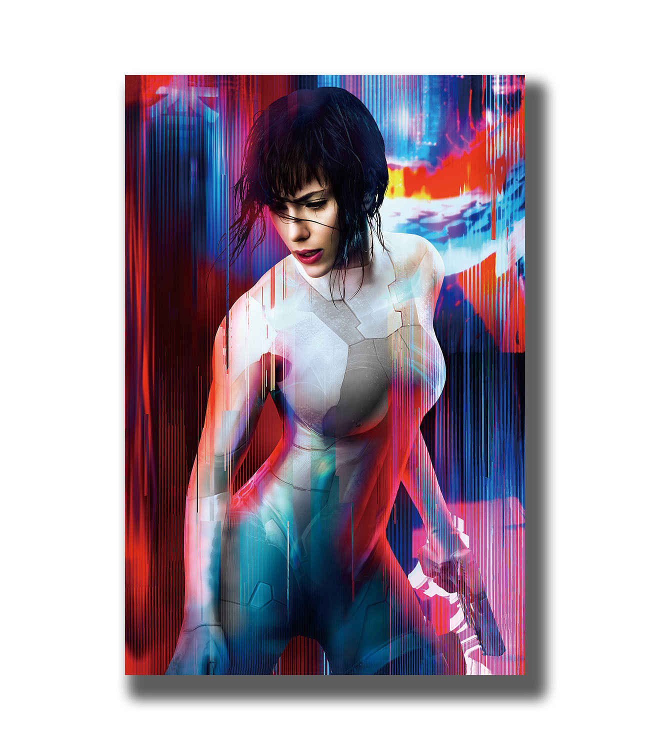 Q0546 Posters And Prints Ghost In The Shell Scarlett Johansson Hot Movie Art Poster Canvas Painting Home Decor Painting Calligraphy Aliexpress