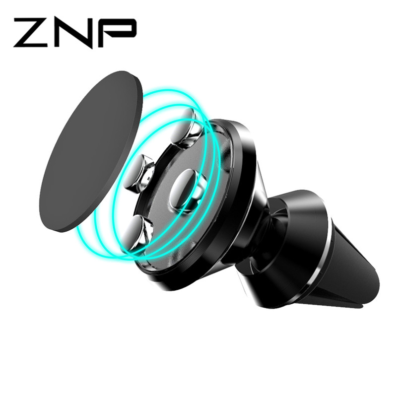 ZNP Magnetic Car Phone Holder Air Vent Outlet Rotatable Mount Magnet Phone Mobile Holder Universal For iphone Samsung stand