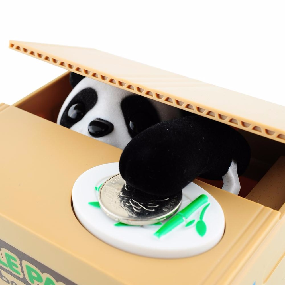 Cat Panda Money Box Coins Penny Cents Coin Piggy Bank Saving Safe Box Kids Child Gift Home Office Decoration Tirelire Panda