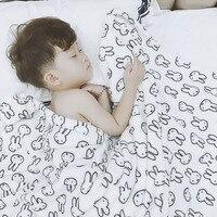 Superfine Fiber Rabbit Baby Blanket Newborns Warm Various Cartoon Patterns Super Soft Swaddle Flannel Baby Bedding Small Blanket