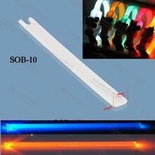 2,5x10 мм мягкий пластик, ТПУ светильник для собак ошейник Рождественский светильник ing браслет сторона излучает Оптическое волокно бар