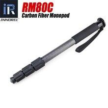 RM80C monopiede In fibra di Carbonio di qualità Superba Leggero monopiede Esteso a video Professionale monopiede per la macchina fotografica videocamera