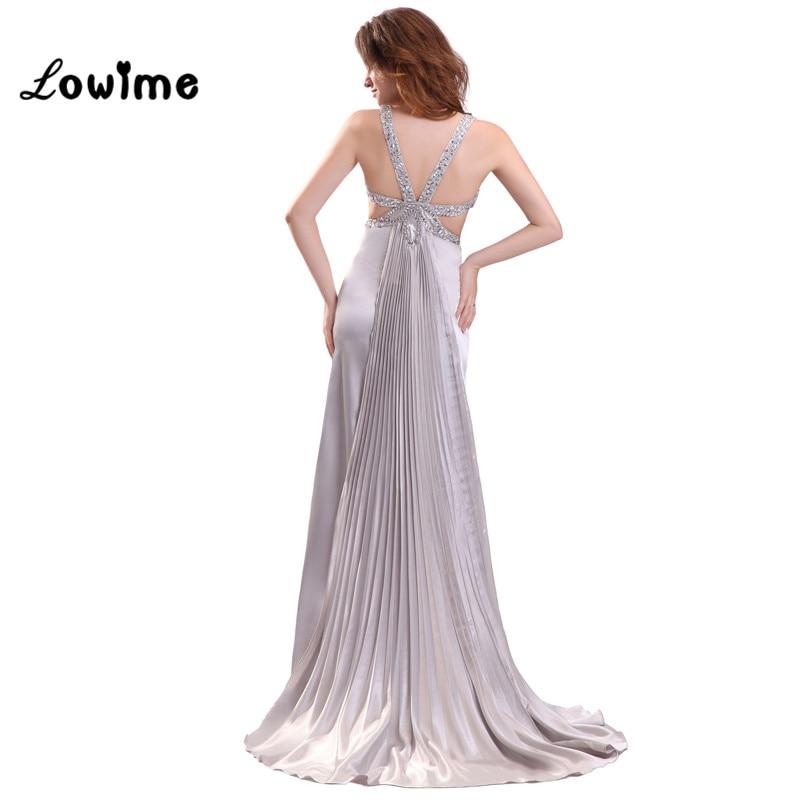 Sexy Sparkly Long Silver Mermaid Prom Dress Taffeta Detachable ...