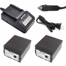 Cheapest prices 2Pc 7.2V 6000mAh VW VBG6 VWVBG6 Rechargeable Camera Battery + Quick Digital Charger for Panasonic AG-HMC154ER HMC154GK AGHMC154P