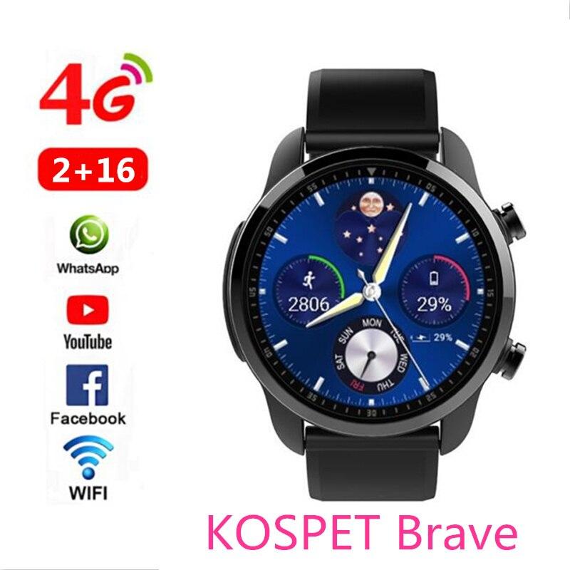 Date SmartWatch téléphone montre intelligente SIM + GPS + GPRS + 4G + 2G RAM + 16G ROM pour Apple iphone X 5 s 7 8 plus samsung huawei LG X5 PK S2