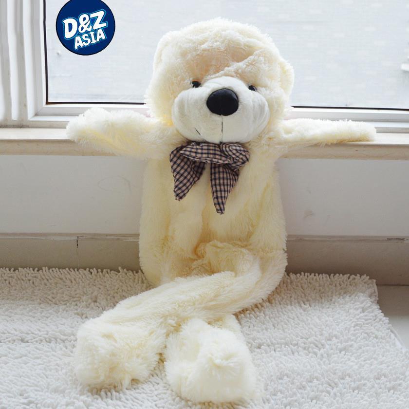 Factory wholesale unstuffed teddy bear 200CM life size big plush animal skins Wedding Gift Shell empty giant plush toys coat