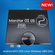 Musiland 02 EE.UU. MARK2 Súper CPU FPGA DSP 24bit/192 KHz USB DSD amplificador DAC 32bit/384 KHz salida digital PC Hi-fi USB DAC DSD