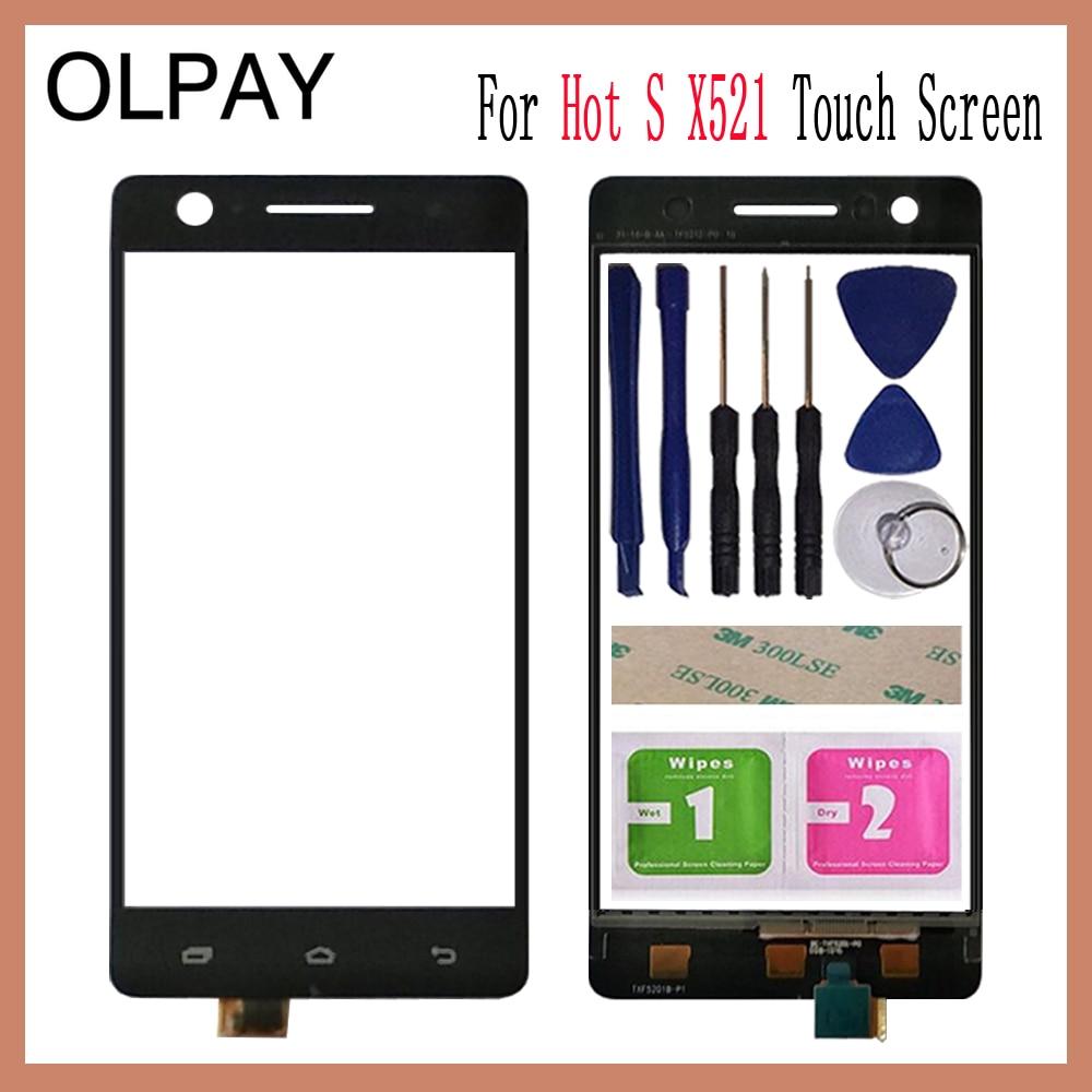 OLPAY 5.2 pour Infinix Hot S X521 écran tactile numériseur panneau pièces de réparation écran tactile avant verre lentille capteur adhésif + lingettes